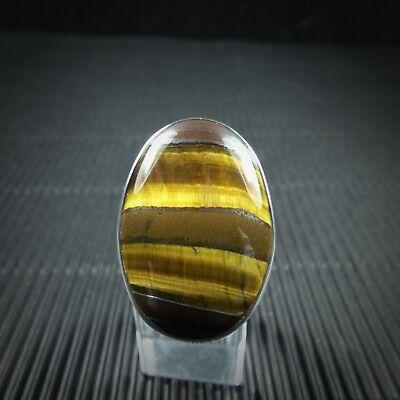 Niedrigerer Preis Mit Ring Gr. 61, Silber 925, Mit Einem Tigerauge Cabochon Aus Indien Gute WäRmeerhaltung