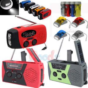 Emergency-Solar-Hand-Crank-AM-FM-NOAA-Weather-Radio-Power-Bank-Charger-2000mAh-L