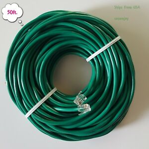 rj11 rj12 cat5e green dsl telephone data cable