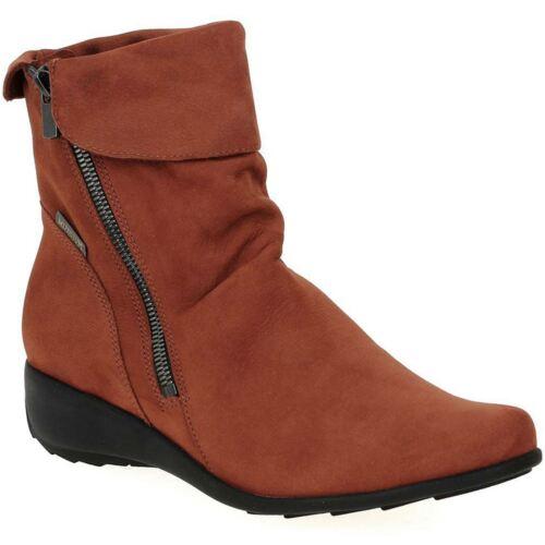 Mephisto Seddy Rust Womens Nubuck Ankle Boots
