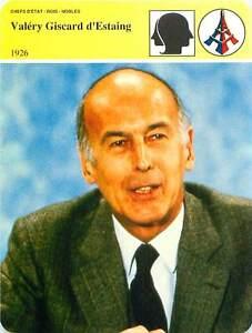 FICHE-CARD-Valery-Giscard-d-039-Estaing-VGE-President-de-la-Republique-France-90s