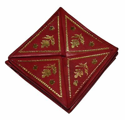 Moroccan leather magic small coin purse wallet handmade BEIGE