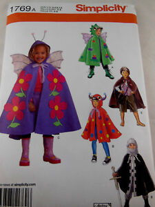 4 5 Simplicity 1769 Child/'s Capes 3 8   Sewing Pattern 7 6