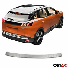 2017 For Peugeot 3008 3008GT Rear Boot Inner/&outer Bumper Guard Sill Plate Molding 2pcs