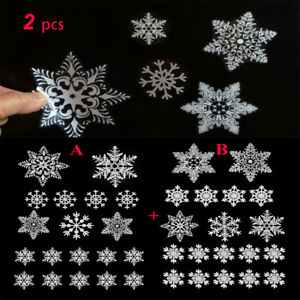 19pcs-Reusable-White-Christmas-Snowflake-Windows-Sticker-Self-Clings-XMAS-Decor