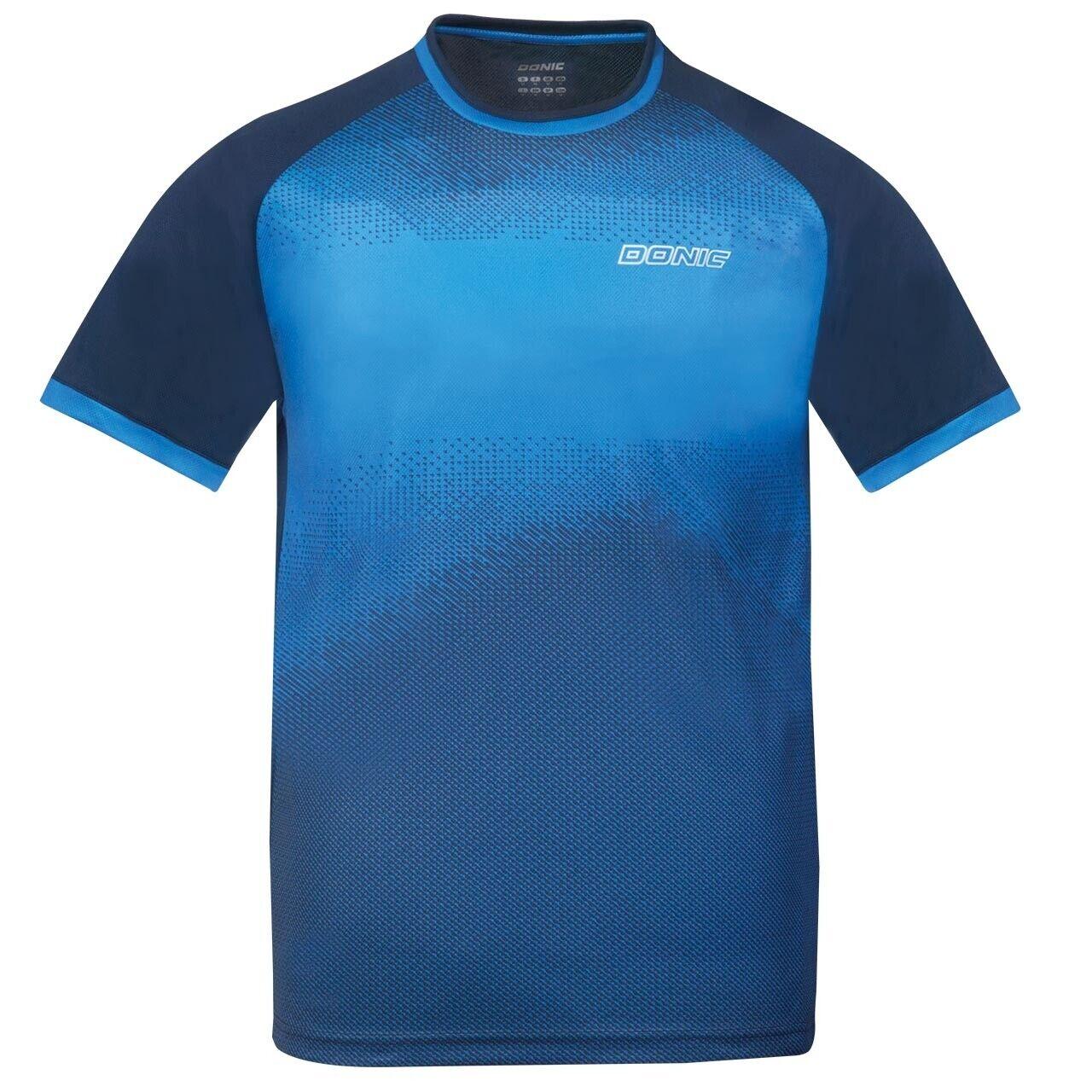 Donic Tee-Shirt Agile blue Respirant Maillot Tennis de Table Badminton Tee-Shirt
