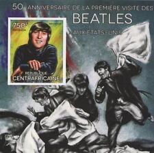 50th Aniversario Beatles en EE. UU. John Lennon Sheetlet 2014 sello imperforado