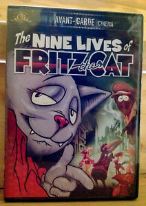 Los-nueve-vidas-de-Fritz-the-Cat-DVD-2001-cine-vanguardista-Sellado-De-Fabrica