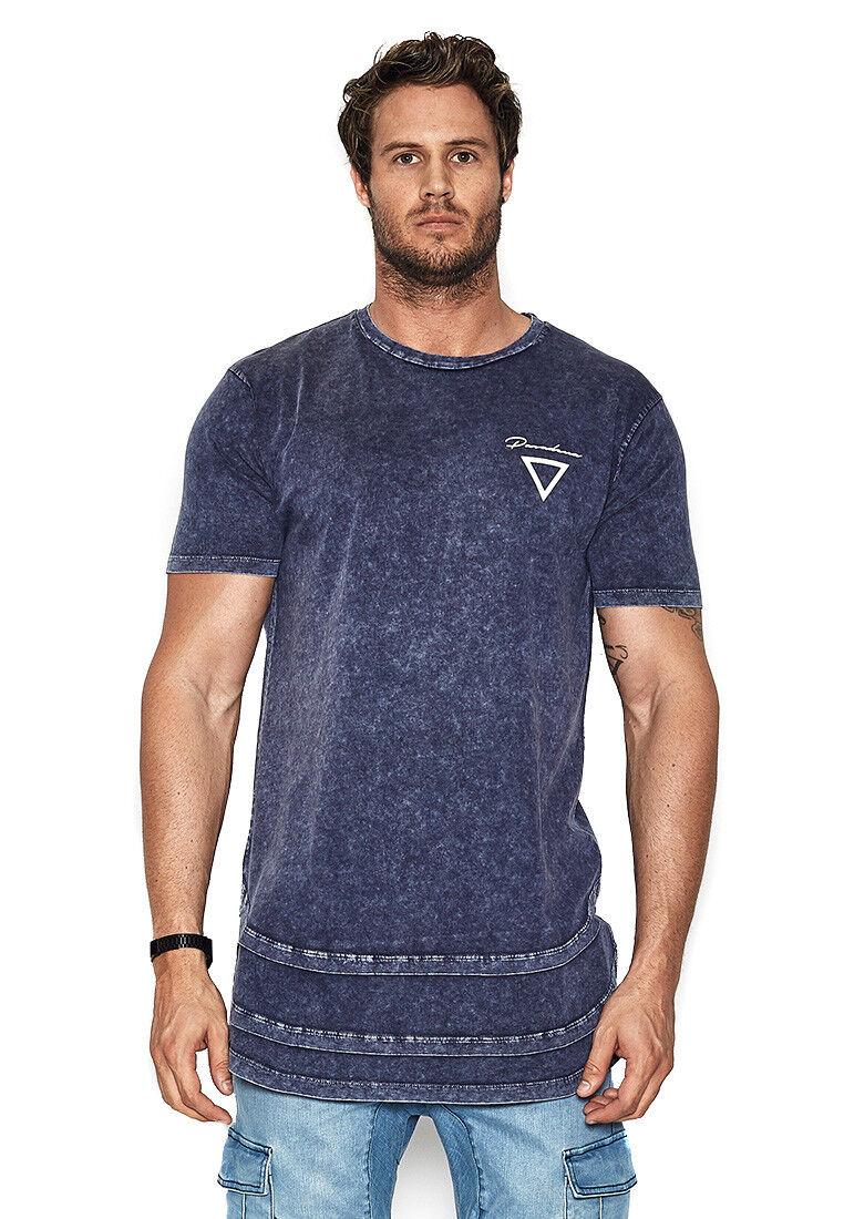 Nena & Pasadena T-shirt Men Destroyer Acid Insignia bluee