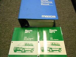1993 Mazda MPV Van Service Repair Shop Manual Set W Wiring ...
