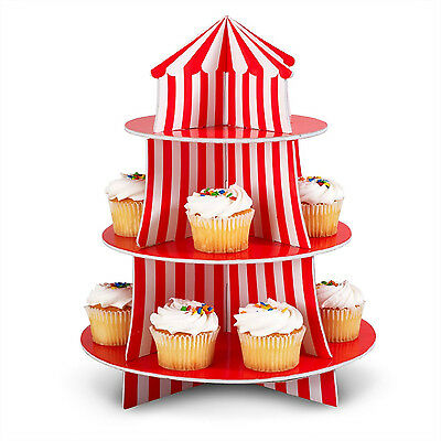 1 Carnival Circus BIG TOP Tent Decoration Party CUPCAKE Holder Centerpiece