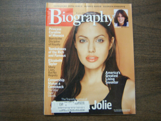 Biography Magazine Angelina Jolie October 2003 041912R