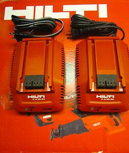 Two x Hilti C 4//36 ACS Li-Ion Battery Chargers