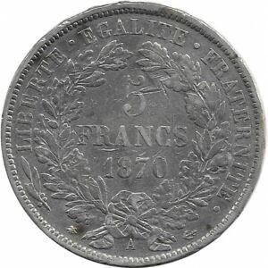 FRANCE-5-FRANCS-CERES-1870-A-Paris-TB-coups