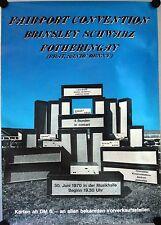 Fairport Convention Konzertposter 1970 A1 GEROLLT Sandy Denny Hamburg Musikhalle