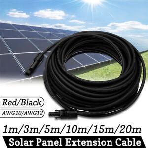 1-20m-10-12AWG-Panneau-Solaire-Extension-Corde-MC4-Connection-Cable-Connecteur