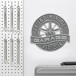 Racing-Wheel-Personalized-Garage-Sign