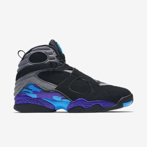 2015 Nike Air Jordan 8 VIII Retro Aqua Size 12.5 305381-025 chrome low playoffs