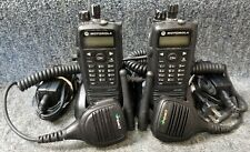Motorola Xpr6550 Uhf Digital Dmr Mototrbo Set Of 2 Radios 403 470 Good With Mics