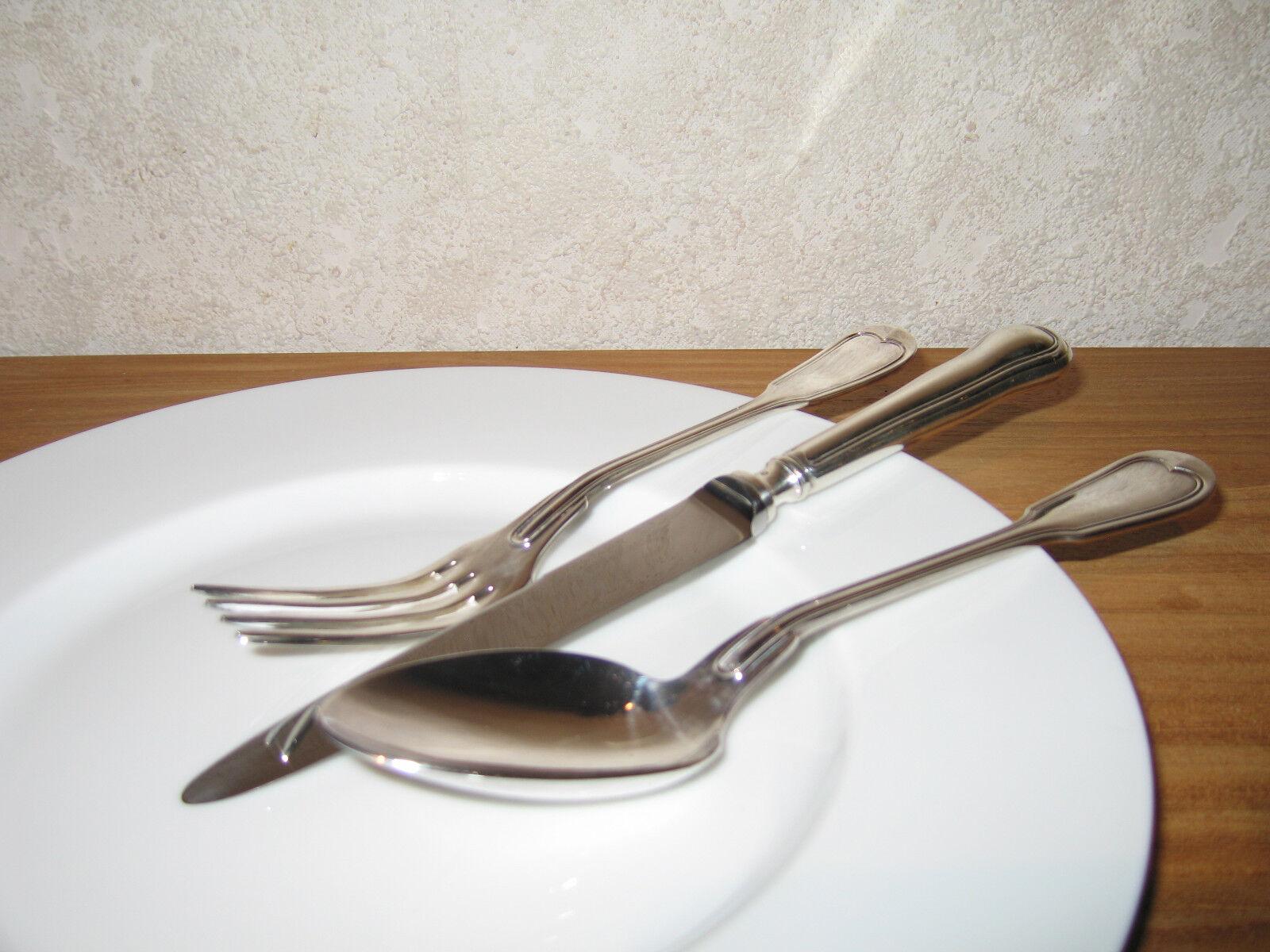 WISKEMANN NEW FILETS Set 3 couverts Cutlery Métal argenté 100g