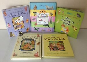 Disney-Winnie-The-Pooh-Hard-Cover-Book-Lot-5-Home-School-Young-Reader