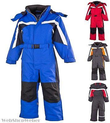 Schneeanzug Skianzug Skioverall Winteranzug Kinder Mädchen Jungen Gr.140 rot-26