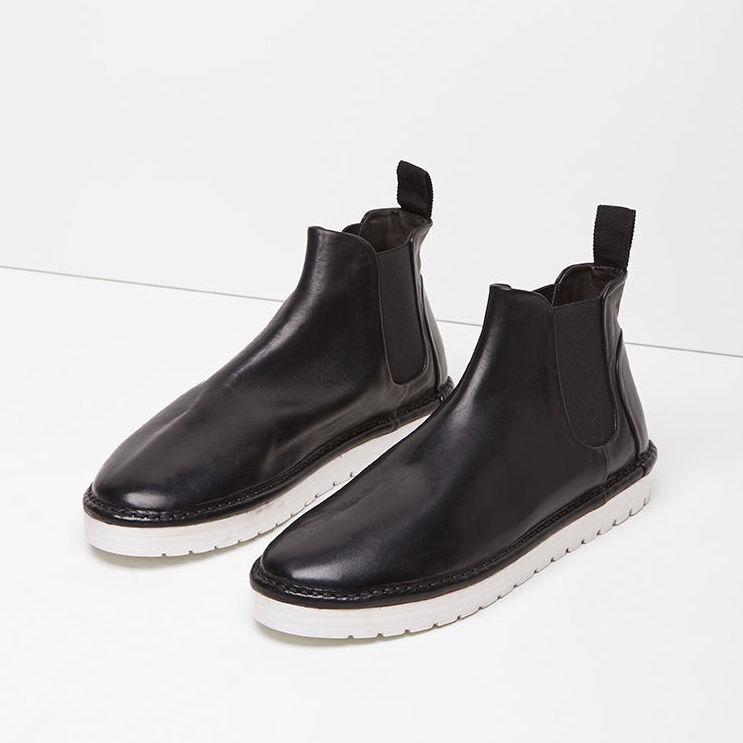 MARSèLL Gomma sancrispa sancrispa sancrispa Alta Cuero Chelsea botas en Negro Talla 38  alta calidad y envío rápido