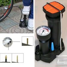 Black MOTO Bike Pressure Gauge Portable Wheel Tyre Tire Tube Inflator Pedal Pump