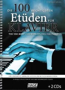 DéVoué Piano Notes: Les 100 Principaux Etüden Pour Piano-léger-moyen Lourd-afficher Le Titre D'origine