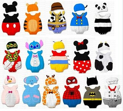 34 Designs NEW Baby Boys Girls Animal Costume Clothes Romper Outfit Set