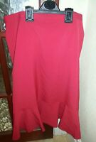 Changes By Together Lovely Ladies Red Tailored Skirt Size 16