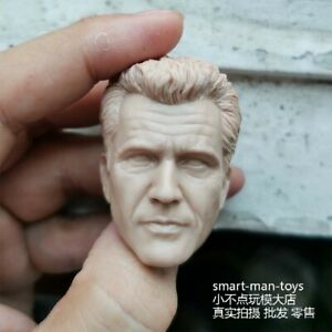1-6-Unpainted-White-Head-Carving-Mel-Gibson-Collectible-Soldier-Accessories-Toy
