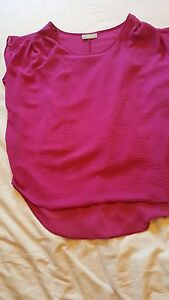 Wallis-Magenta-pink-top-with-coordinating-camisole-vest-size-small
