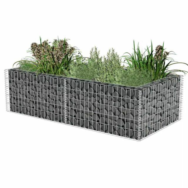 Vidaxl Gabion Planter Steel Flower Wire Basket Stone Garden Outdoor Plant Bed For Sale Online Ebay
