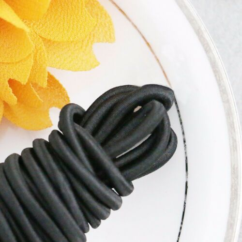 Elastic Cord Round Black 55 yd x 3mm great for sewing crafts /& buttonhole loops