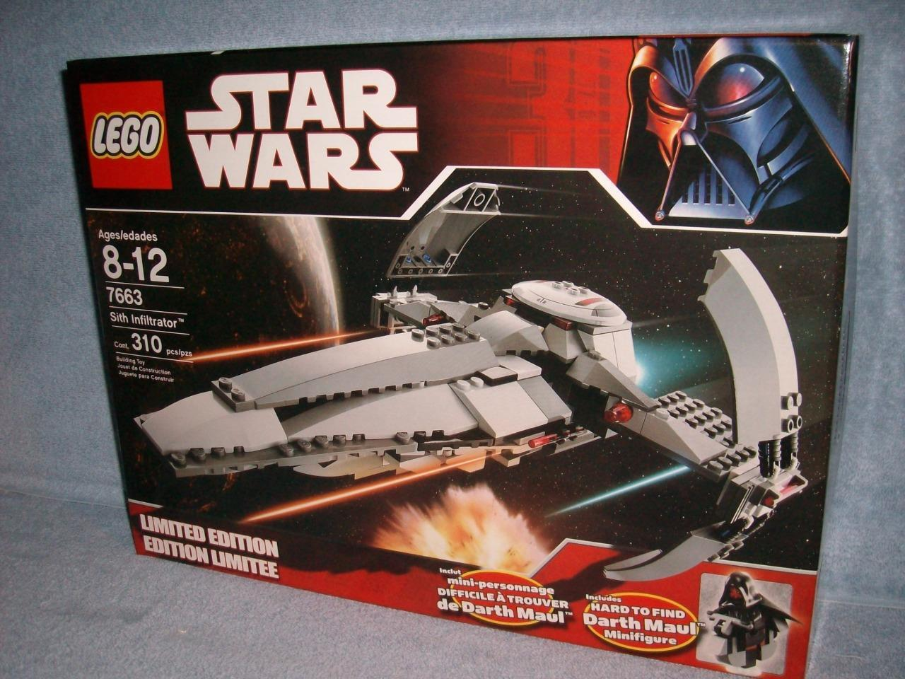 Sith Infiltrator Limited Edition Lego Star Wars 7663 310 pcs 2007 Maul Minifigs