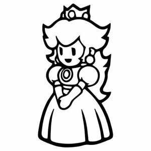 Princess Peach Mario Vinyl Die Cut Decal Sticker 5 Pink