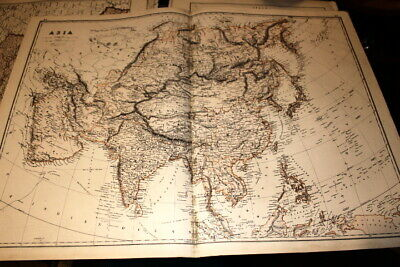 Maps, Atlases & Globes From Hardesty Atlas In Pain #4112,large Map Asia 1875