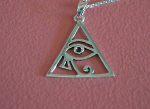 925-Sterling-Silver-Triangle-Eye-of-Ra-Charm-Eye-of-Ra-Pendant-ONLY