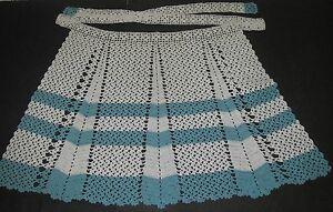 Image Is Loading Vintage Kitchen Textiles Half Hostess APRON Hand Crafted