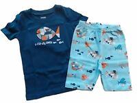 NWT Boy's Gymboree Fish short sleeve shirt shorts pajamas gymmies ~ 4 5 6 7 8 10