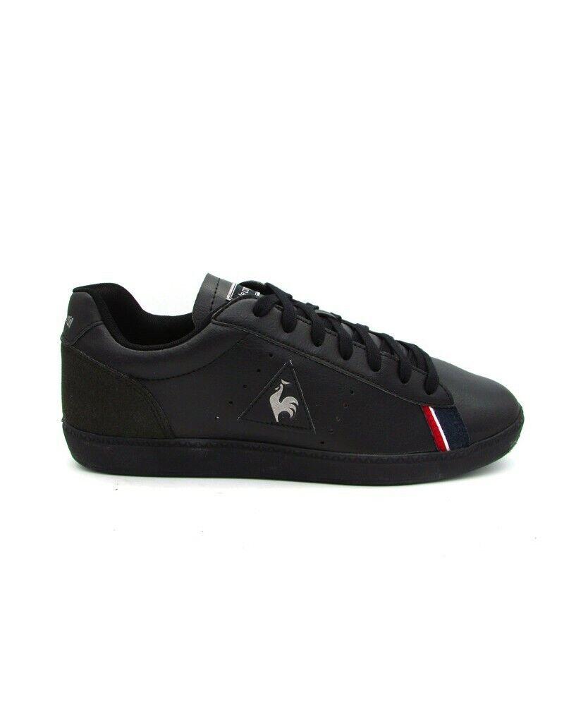 Zapatos Le Coq Sportif 1811220 Courtstar S Leather Triple negro Moda Hombre