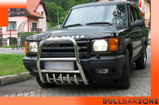!!!+!LAND ROVER DISCOVERY II TUBO PROTEZIONE ALTO BULL BAR INOX STAINLESS STEEL