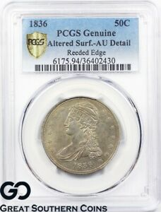 1836-Capped-Bust-Half-Dollar-PCGS-Genuine-Reeded-Edge-RareKey-Date