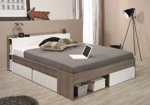 Bett stauraumbett einzelliege 140x200 cm schlafzimmer silbereiche