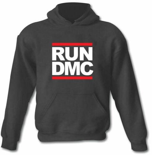 RUN DMC Felpa Con Cappuccio Logo Black T-shirt Hip Hop Retro Tutte Le Taglie Uomini Donne Unisex Maglione