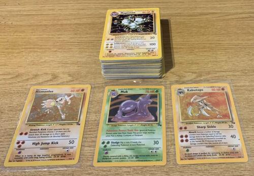 Fossil Set //62 1st Holo choose Pokemon /& Trainer 1999 Multibuy 40/% Discount 1999