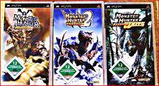 SONY PSP 4 MONSTER HUNTER GAMES + EXTRA : MUNSTER HUNTER 1 + 2 + UNIT + 2 G
