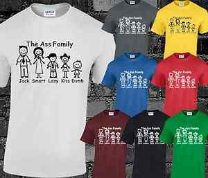 5c8aa744a The Ass Family Mens T Shirt Top Funny Joke Comedy Slogan Quote ...