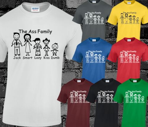The Ass Family Mens T Shirt Top Funny Joke Comedy Slogan Quote Printed S-3XL